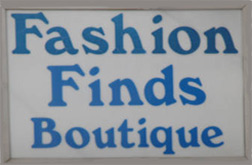 Fashion Finds sign